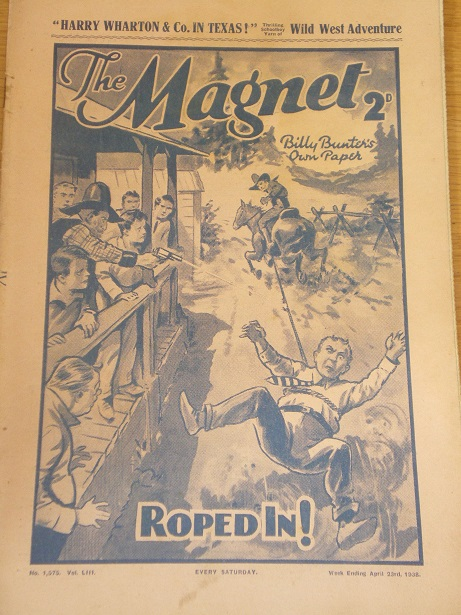 THE MAGNET story paper, April 23 1938 issue for sale. BILLY BUNTER, CHARLES HAMILTON, FRANK RICHARDS