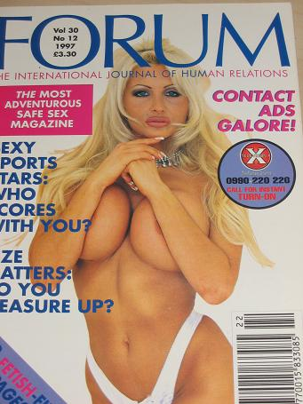 FORUM magazine, Volume 30 Number 12 issue for sale. 1997 ADULT, SEXUAL RELATIONS publication. Classi