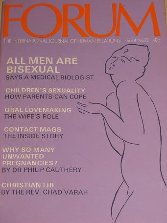 FORUM magazine, Volume 4 Number 12 issue for sale. 1972 ADULT, SEXUAL RELATIONS publication. Classic