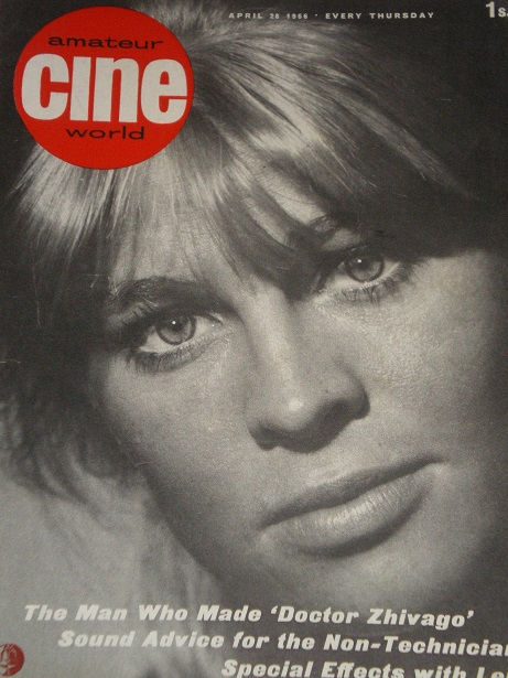 AMATEUR CINE WORLD magazine, April 28 1966 issue for sale. Original British publication from Tilley,
