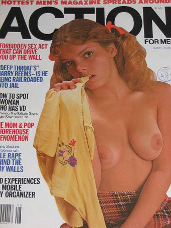 ACTION FOR MEN magazine, August 1977 issue for sale. Vintage ADULT publication. Classic images of th