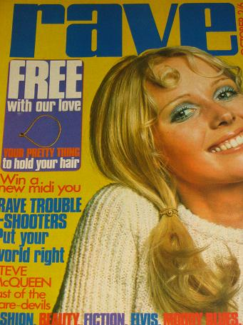 RAVE magazine, October 1970 issue for sale. STEVE McQUEEN, CHICAGO, MOODY BLUES, FREE. Original Brit