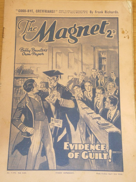THE MAGNET story paper, April 2 1938 issue for sale. BILLY BUNTER, CHARLES HAMILTON, FRANK RICHARDS,