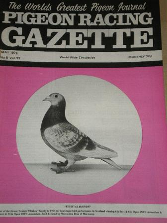 PIGEON RACING GAZETTE, May 1976 issue for sale. Original publication from Tilleys, Chesterfield, Der