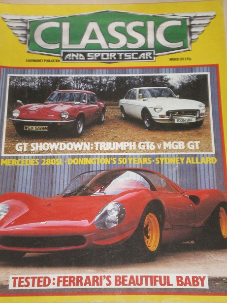 CLASSIC AND SPORTSCAR magazine, March 1983 issue for sale. Original BRITISH publication from Tilley,