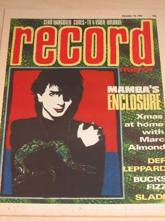 RECORD MIRROR magazine Dec. 24 1983. MARC ALMOND. Vintage BRITISH TEEN, POP MUSIC publication for sa