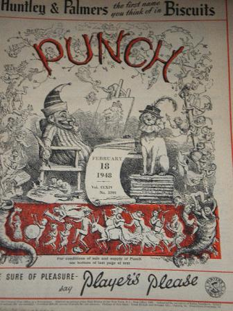 PUNCH magazine, February 18 1948 issue for sale. Original British publication from Tilleys, Chesterf
