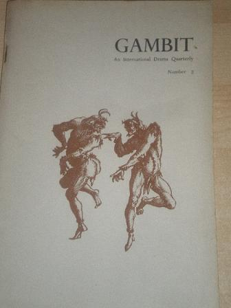 GAMBIT magazine, issue Number 2 for sale. Original 1960s DRAMA publication from Tilley, Chesterfield