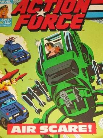ACTION FORCE comic, 1987 issue Number 20 for sale. Original British publication from Tilleys, Cheste