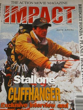 IMPACT magazine, July 1993 issue for sale. STALLONE. Original British ACTION MOVIE publication from