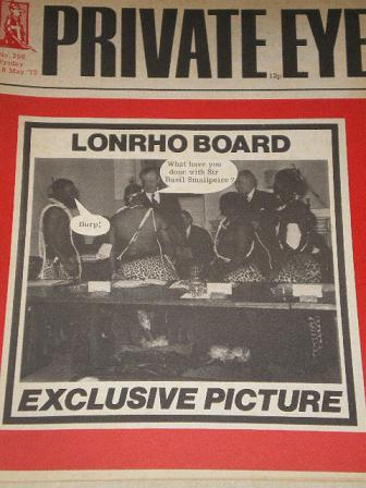 PRIVATE EYE magazine, 18 May 1973 issue for sale. LONRHO. Original British publication from Tilley,