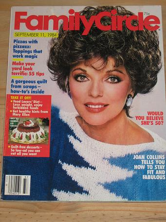 FAMILY CIRCLE MAGAZINE SEPTEMBER 11 1984 BACK ISSUE FOR SALE JOAN COLLINS VINTAGE PUBLICATION PURE N