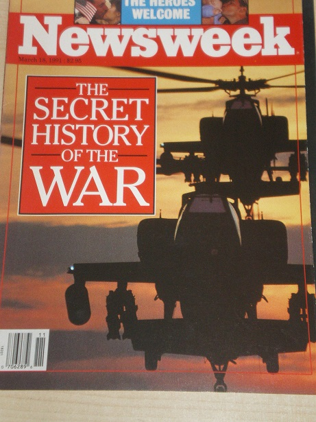 NEWSWEEK magazine, March 18 1991 issue for sale. THE FIRST INVASION OF IRAQ. Original  U.S. publicat