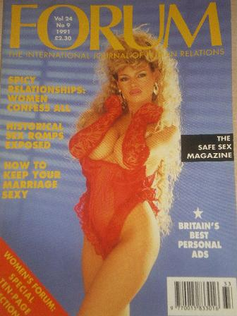 FORUM magazine, Volume 24 Number 9 1991 issue for sale. Original British adult publication from Till