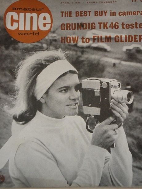 AMATEUR CINE WORLD magazine, April 8 1965 issue for sale. Original British publication from Tilley,