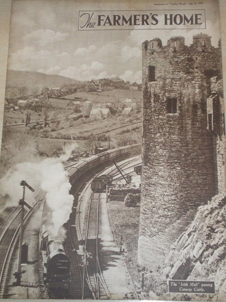 The FARMERS HOME magazine, July 22 1938 issue for sale. GRACE DARLING, IRISH MAIL TRAIN PASSING CONW