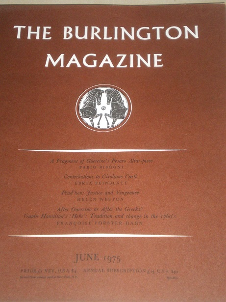 THE BURLINGTON MAGAZINE, June 1975 issue for sale. FINE ART, DECORATIVE ART. Original British academ