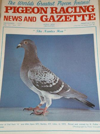 PIGEON RACING magazine, December 1973 issue for sale. Original publication from Tilleys, Chesterfiel