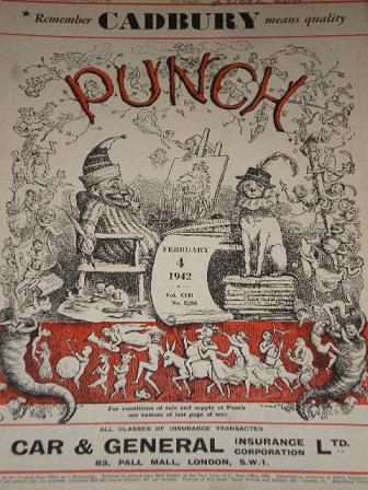 PUNCH magazine, February 4 1942 issue for sale. Original British publication from Tilleys, Chesterfi