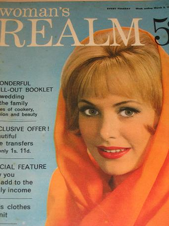 WOMANS REALM magazine, March 9 1963 issue for sale. FICTION, FASHION, KNITTING. Birthday gifts from