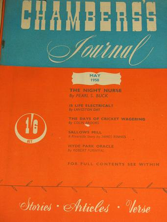 CHAMBERS JOURNAL, May 1950 issue for sale. BUCK. Classic images of the twentieth century. STORIES, A
