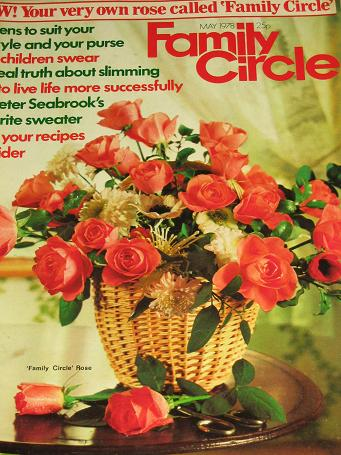 FAMILY CIRCLE magazine, May 1978 issue for sale. Original gifts from Tilleys, Chesterfield, Derbyshi