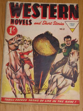WESTERN NOVELS AND SHORT STORIES magazine No. 2 1950s. Vintage pulp cowboy story paper for sale. Cla