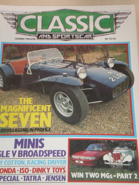 CLASSIC AND SPORTSCAR magazine, May 1983 issue for sale. Original BRITISH publication from Tilley, C