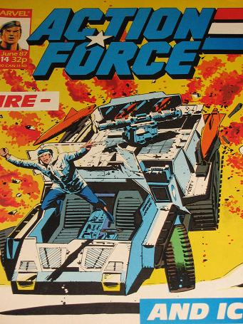 ACTION FORCE comic, 1987 issue Number 14 for sale. Original British publication from Tilleys, Cheste
