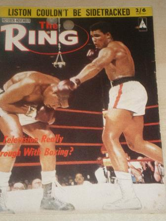 THE RING, October - November 1964 issue for sale. CLAY. Original British SPORT, BOXING publication f
