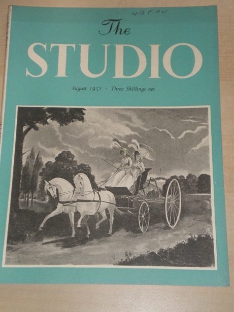 The STUDIO magazine, August 1951 issue for sale. Original BRITISH publication from Tilley, Chesterfi