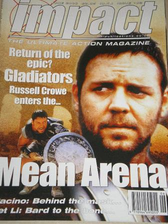IMPACT magazine, June 2000 issue for sale. RUSSELL CROWE. Original British ACTION MOVIE publication
