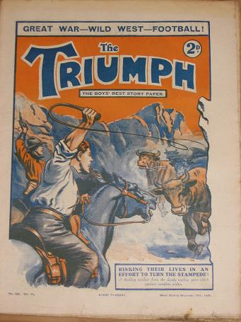 NUMBER 269 TRIUMPH STORY PAPER DECEMBER 14 1929 ANTIQUE BOYS STORY PAPER FOR SALE