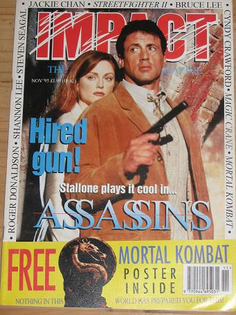 IMPACT MAGAZINE NOVEMBER 1995 ACTION MOVIE BACK ISSUE FOR SALE CLASSIC IMAGES OF THE TWENTIETH CENTU