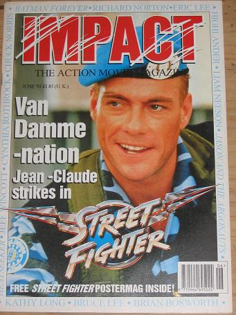 IMPACT MAGAZINE JUNE 1995 ACTION MOVIE BACK ISSUE FOR SALE CLASSIC IMAGES OF THE TWENTIETH CENTURY P