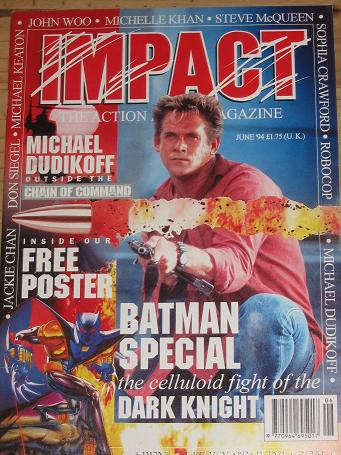 IMPACT MAGAZINE JUNE 1994 ACTION MOVIE BACK ISSUE FOR SALE CLASSIC IMAGES OF THE TWENTIETH CENTURY P