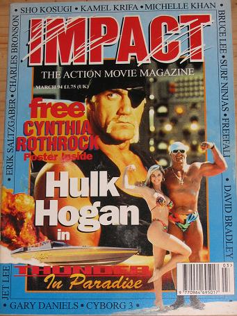 IMPACT MAGAZINE MARCH 1994 ACTION MOVIE BACK ISSUE FOR SALE CLASSIC IMAGES OF THE TWENTIETH CENTURY
