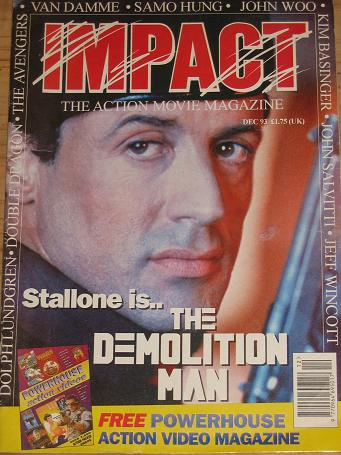 IMPACT MAGAZINE DECEMBER 1993 ACTION MOVIE BACK ISSUE FOR SALE CLASSIC IMAGES OF THE TWENTIETH CENTU