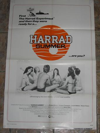ORIGINAL MOVIE POSTER HARRAD SUMMER 1974 FOR SALE PURE NOSTALGIA ARCHIVES CLASSIC IMAGES OF THE TWEN