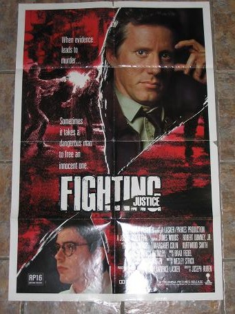 ORIGINAL MOVIE POSTER FIGHTING JUSTICE 1988 FOR SALE PURE NOSTALGIA ARCHIVES CLASSIC IMAGES OF THE T