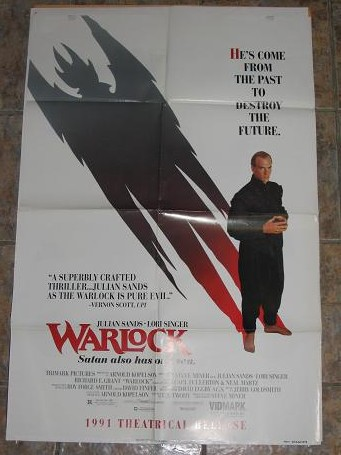 ORIGINAL MOVIE POSTER WARLOCK 1991 FOR SALE PURE NOSTALGIA ARCHIVES CLASSIC IMAGES OF THE TWENTIETH