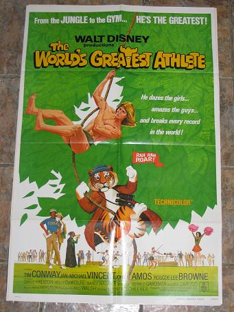 ORIGINAL MOVIE POSTER THE WORLD'S GREATEST ATHLETE 1972 FOR SALE PURE NOSTALGIA ARCHIVES CLASSIC IMA