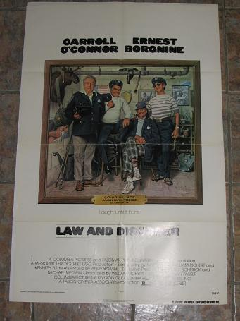 ORIGINAL MOVIE POSTER LAW AND DISORDER 1974 FOR SALE PURE NOSTALGIA ARCHIVES CLASSIC IMAGES OF THE T