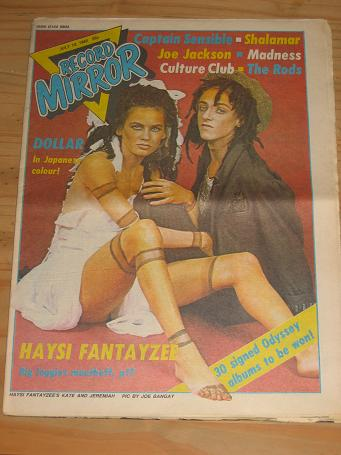 HAYSI FANTAYZEE DOLLAR 1982 RECORD MIRROR POP PAPER FOR SALE JULY 10 PURE NOSTALGIA ARCHIVES CLASSIC