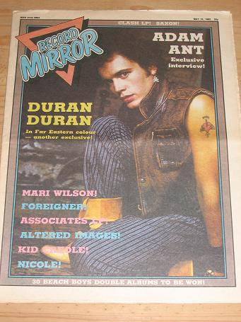 ADAM ANT DURAN 1982 RECORD MIRROR POP PAPER FOR SALE MAY 15 PURE NOSTALGIA ARCHIVES CLASSIC IMAGES O