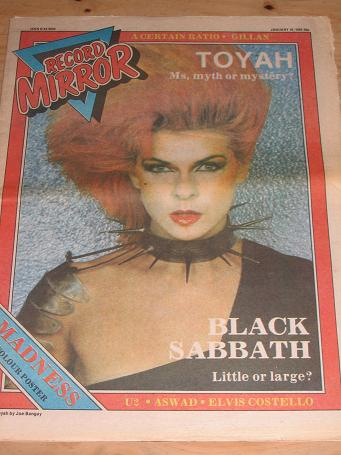 TOYAH SABBATH 1982 RECORD MIRROR POP PAPER FOR SALE JANUARY 16 PURE NOSTALGIA ARCHIVES CLASSIC IMAGE