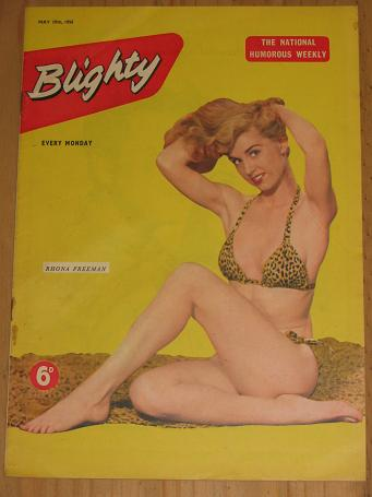 RHONA FREEMAN MAY 19 1956 BLIGHTY MAGAZINE FOR SALE VINTAGE MENS PIN-UP GLAMOUR PUBLICATION PURE NOS