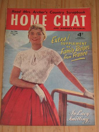 HOME CHAT MAGAZINE JULY 6 1957 ARCHER ISSUE FOR SALE VINTAGE WOMENS PUBLICATION PURE NOSTALGIA ARCHI
