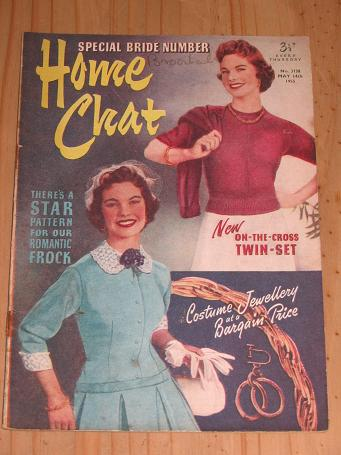 HOME CHAT MAGAZINE MAY 14 1955 ISSUE FOR SALE VINTAGE WOMENS PUBLICATION PURE NOSTALGIA ARCHIVES CLA