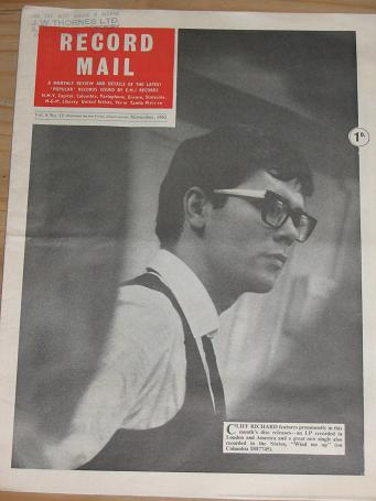 CLIFF FAITH RECORD MAIL NOVEMBER 1965 ISSUE FOR SALE VINTAGE POP MUSIC PAPER PURE NOSTALGIA ARCHIVES